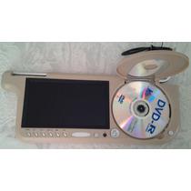 Reproductor Dvd 7 Pulgadas Audio Video Fm Mpeg Ctrl Remoto