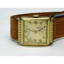 Reloj Steelco Vintage,17 Joyas Caja Laminada Oro Tapa Acero