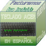 Teclado Negro Español Acer Aspire One D270-1631 Ze7 Happy