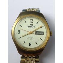 Antiguo Y Raro Reloj Kiseki Automático,doble Fechador, Chapa