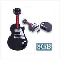 Disco Flash 8gb Usb Con Forma De Guitarra