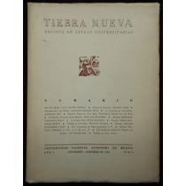 Revista Tierra Nueva. Caso, Cardona Peña, Chumacero... 1940