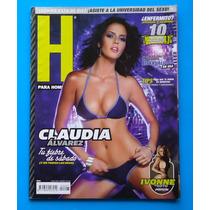 Revista H Para Hombres Claudia Alvarez C/poster Como Nueva