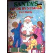 Libro Para Colorear Santa´s Color By Number Fun Book 1987-88