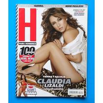 Revista H Para Hombres Claudia Lizaldi C/poster Como Nueva