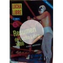 Revista Lucha Libre,anuario Resumen 1988,unica En El Mercado