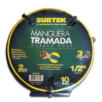 Oferta Manguera Tramada 1/2 C/ Conector Metálico 10 Mts Mn4