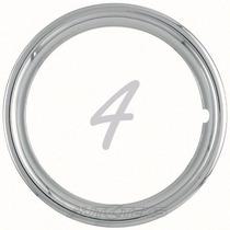 4 Aros Metálicos Cromados Para Rines 13 Trim Rings