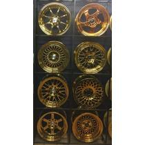 Jnc Wheels 15x8 4/100 Golden Chrome Muy Exclusivos
