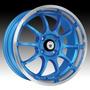 Juego De 4 Rines Konig Lightning Azul 15x7 4-100 Honda Vw