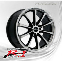 Rines 18x8 5-112 R R1 Sport Jd058 Mi Black Mate Et40 New!!