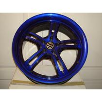 Rines 17 Azules Vw Nuevos Jetta Golf Beetle Volskwagen