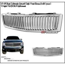 Parrilla Cromada Lujo Vertical Chevrolet Cheyenne 07 08 09