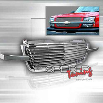 Parrilla Cromada Lujo Chevrolet Silverado 03 04 05 Cromada