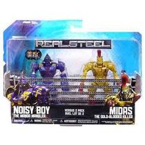 Real Steel Gigantes De Acero Noisy Boy Y Midas 12 Cms Luz