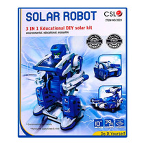 Kit Robot Solar Educativo, Facil De Armar, 3 Figuras