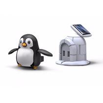 Pingüino De Juguete Armable, Operado Con Energía Solar