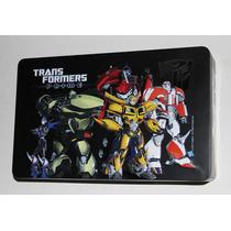 Transformers Prime Caja De Metal + 9 Figuras + 10 Libros