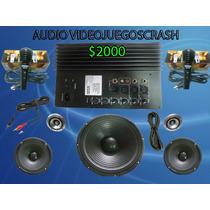 Kit Completo Audio Amplificador Y Bocinas Ideal Para Rockola