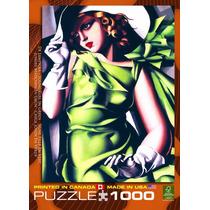 Jigsaw Puzzle - Chica Joven En Verde Por Tamara De