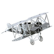 Rompecabezas Miniatura 3d Metálico Avión Biplano