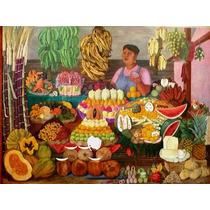 Rompecabezas Rommex 1000 Pzas Arte Vendedora De Frutas Olga
