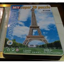 Rompecabezas 3d De Cartón Plastificado Torre Eiffel Grande