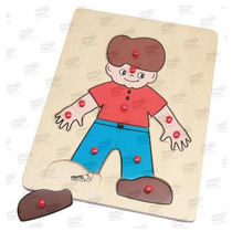 Mi Cuerpo Niño Rompecabezas Infantil Madera 12 Pzas 3+ Diako