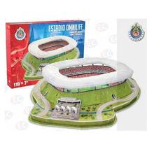 52002 Estadio Omnilife Chivas 3d Rompecabezas 152pz Nanostad