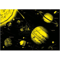 14461 Sistema Solar Neón Glow Rompecabezas 1000 Pzas Educa