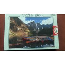 Rompecabezas Educa 1500 Piezas Lago Moraine Canadá Paisajes