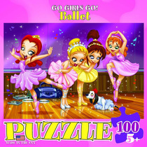 Jigsaw Puzzle - Go Girls Go! Ballet 100 Eurographics Piece
