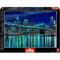 Rompecabezas Educa 1000 Piezas Manhattan De Noche Dhr 15978