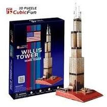 Rompecabezas 3d Puzzle Cubicfun Torre De Sears Willis C083h