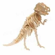 Rompecabezas 3d De Madera, Dinosaurio