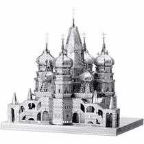 Rompecabezas Miniatura 3d Metálico Catedral De San Basilio