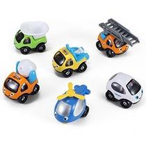 Coches De Dibujos Animados Y Camiones Juega Vehículos Conjun