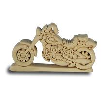 Moto De Madera Puzzle - Chopper Artesanales Para Niños