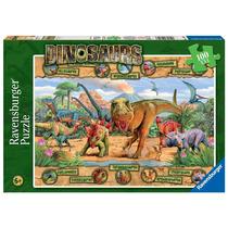 Jigsaw Puzzle - Ravensburger Dinosaurios Xxl 100 Piezas