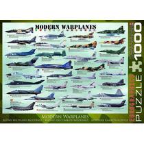 Jigsaw Puzzle - Aviones De Guerra Modernos 1000 Eurographics