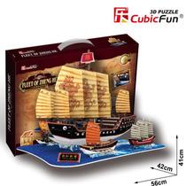 Barcos Flota De Zheng He Rompecabezas 3d Cubicfun