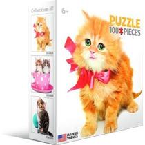 Jigsaw Puzzle - Gato Con Arco 100 Piezas Eurographics Mini