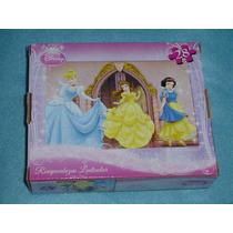 Princesas Rompecabezas Lenticular 3d De 28 Piezas