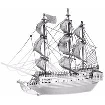 Rompecabezas 3d Metálico Modelo Barco Perla Negra