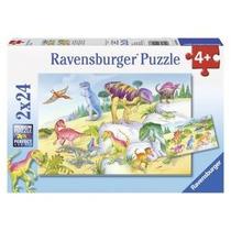 Dinosaurios 2 Rompecabezas De 24 Piezas Ravensburger