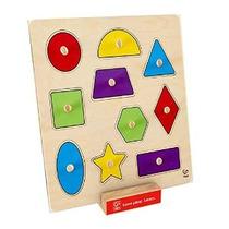 Hape Inicio Educación - Formas Geométricas Perilla Puzzle Pu