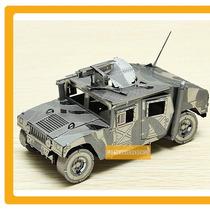 Rompecabezas Hummer Militar Puzzle Laser Metálico 3d Policia