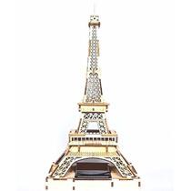Rompecabezas 3d Solar De Madera, Torre Eiffel