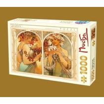 Jigsaw Puzzle - D-juguetes Alfonso Mucha Fruta Y Flores