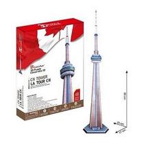 Mc109h Canada National Tower Rompecabezas 3d 48 Pzs Cubicfun